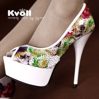 Free shipping New arrival Kvoll high quality fashion Platform Pumps Sexy High Heels shoes Lady Shoes Dilys store 524