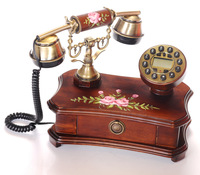 hot sell solid wood home corded phone telephone