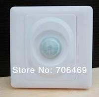 10pcs/lot Wall Mount Infrared Motion PIR Sensor Switch 110V-220V 200W