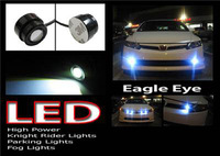 HK Post Free Shipping Wholesale 10 pairs/lot  White 1.5w Eagle Eye Lights DRL Car Back Up Reverse Tail Light Lamp Bulbs  IP68
