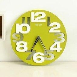 Fashion creative hollow digital living room round mute wall clock