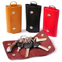 Fedex Free Shipping Wholesale Unisex Cheap Solid Color PU Leather Key Wallet