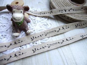 Wholesale 100% Cotton Ribbon DIY Sewing label  garment accessory 15mm x30m -Ants