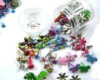 Free shipping 100pcs mix Brads colorful DIY material scrapbooking embellishments craft nail metal brad