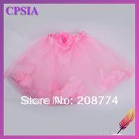hot sale flower tutu skirts petals filled baby skirts 48pcs/lot