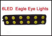 2PCS 12V Car 6LED Eagle Eye Lights Daytime Running Lamp Fog Light Driving Light Lamp High power Waterproof  #C114C