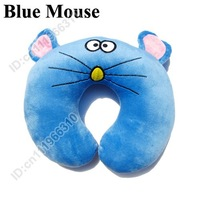 Cute Baby Kid Child Infant Toddler Car Booster Seat Travel Neck Saver Necksaver Protector Head Support Animal Pillow--Blue Mouse