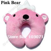 Newest Baby Children Infant Toddler Car Booster Seat Neck Saver Necksaver Protector Head Support Cartoon Animal Pillow-Pink Bear