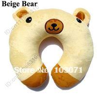 Super Cute Baby Kid Toddler Car Booster Seat Travel Neck Saver Necksaver Protector Head Support Cartoon Animal Pillow-Beige Bear
