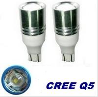 2pcs x 7W CREE T10 LED Bulb Car Wedge Signal Reverse LED Light White