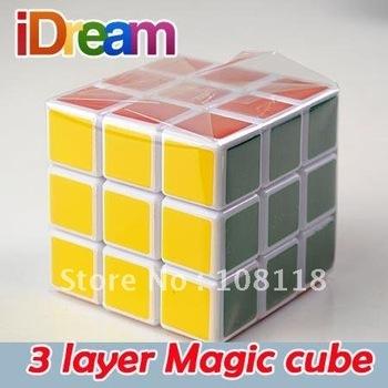 Free shipping baby toys 3 x 3 x 3 Three Layer Magic Cube (6 pcs), traditional toy magic cube, 6 pcs/lot kids puzzle toys