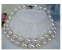 AAA 2 STRANDS BEAUTIFUL AKOYA 10-13MM WHITE PEARL NECKLACE