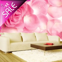 Free Shipping,Fashion 3d wallpaper rose blossom murals,wall murals,NEW ARRIVALS!