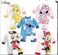 free shipping! 4pcs/lot baby boy/girl cartoon bodysuit long sleeve bodysuit five different designs cotton bodysuit
