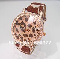 Wholesale women wristwatches ladies rhinestone  fashion leather strap quartz watch Women watches nw237