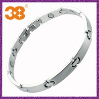 2013 Hot Design Fashion Big Heavy 316L Stainless Steel Bio Magnetic Men Bracelets Silver Color