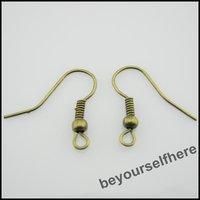 1000pcs/lot P09 Wholesale Earring Findings Earwires Earposts Fish Hooks 18mm Bronze Plated Handcraft Jewelry Making