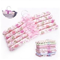 Wholesale Wooden with fabrics hanger / 5pcs/ opp + Free Shipping