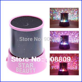 Amazing Flashing Colorful LED Star Master Star Beauty Star Sky light Projector Lamp Night light Lamp EL0538