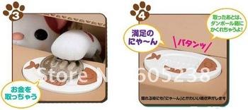 3pcs/lot PVC Packing Japan Itazura Bank Pet Coin Box Crafty Cat Stealing Money Cat Coin bank Cat Coin Box