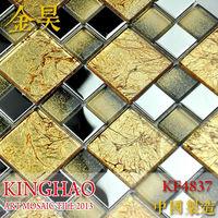 [KINGHAO] Supply Mosaic Wholesale matt Stainless steel  Mix glass Mosaic K00185