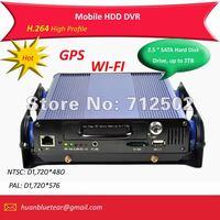 4 channel Bus DVR system, 4 channel CCTV DVR for Bus, Taxi, Trucks, 4 ch D1 Bus DVR