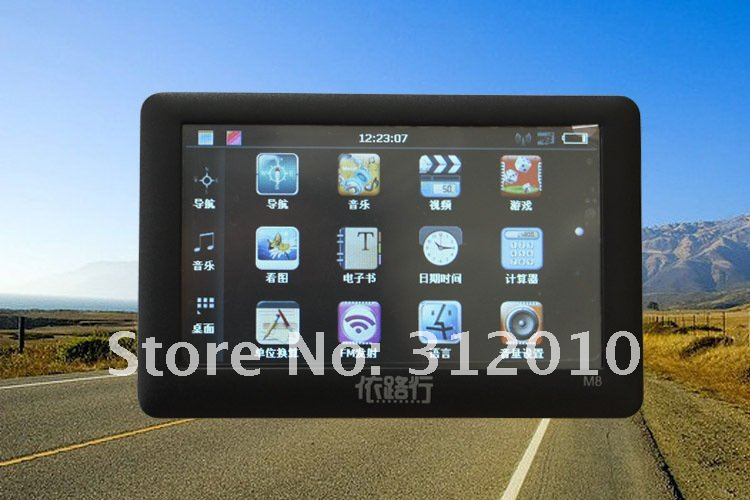 "free shipping hot sale 4.3"" GPS Navigator 4GB load New 3D Map(China (Mainland))"