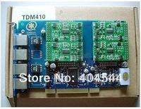 TDM410P four ports Asterisk card for voip trixbox elastix ip pbx ippbx telephone system