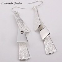 S-E015  Free shipping,wholesale Three pieces 925 silver earrings,fashion/classic jewelry, Nickle free,antiallergic,Factory price