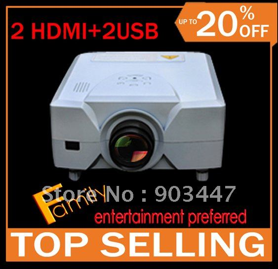 As Mother's Day Gift ! 1080P LCD Video HD projector with USB HDMI for DVD,Movie, PSP, Wii, Xbox,Laptop/PC. Give free hdmi cable!(China (Mainland))