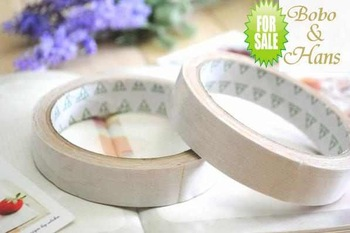 New cute white cotton Fabric Tape / DIY Decoration stationery Sticker label / Fashion / wholesale