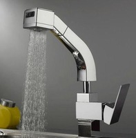 Freeshipping Rotation Promotions Pull out Kitchen Mixer Tap Sink Faucet  faucet Brass the 2 main functions Shower Head