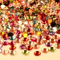 2000 pieces Free Shipping 2mm Crystal Nail Rhinestone Color Mixed for DIY Rhinestone Nail