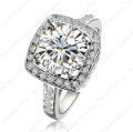 Wholesale Fashion Style,Noble and elegant  Gorgeous Crystal 18K Gold GP 1.5ct Emulational Diamond Ring R123W1
