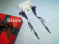 Elegant Gun vs Bullets fringed tassel ear dangle women's fashion earrings E0541