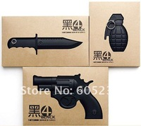 20set/60pieces EMS Free Shipping Armed Notebooks ( Grenade / Knife  / Gun )