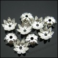 1600pcs/lot P32 Wholesale New Silver Plated Handmade Filigree Flower End Bead Cap 10mm Charm Findings