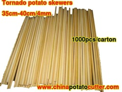 wholesale 1000pcs=5kg/carton ( 4.0mmx40cm )bbq bamboo skewers Model: round bamboo skewer, natural bamboo sticks One side point(China (Mainland))