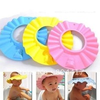 Wholesale 3PCS EVA Foam Baby Child Kid Boys Girls Safe Shampoo Bath Shower Wash Hair Shield Hat Cap, Free & Drop Shipping