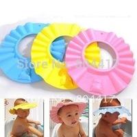 Wholesale 3PCS EVA Foam Baby Child Kid Boys Girls Safe Shampoo Bath Shower Wash Hair Shield Hat Cap, Free & Drop Shipping