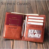 New Brand / Leather Passport Cover / Passport Card Bag / Genuine Leather Passport Holder    W12PH0016-H