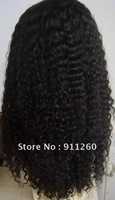 """Free Shipping! 18"""",#1B,Kinky Curl,Indian Human Hair,Full Lace Wigs,"""",8""""-24"""" Medium,Small,Large Size In Stock"""