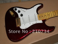 Wholesale - Custom Stratocaster Left Hand China red Electric Guitar