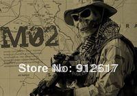 Full  face Skull Airsoft Paintball BB GUN Hunting War Game Protect  PROTECTION guard mask  Silverblack