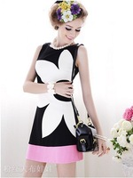 Free Shipping High Quality Elegant Slim Sleeveless Dress Black, Summer Women's Dresses