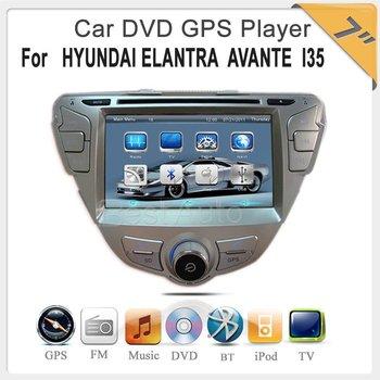 car dvd player 7'' Car DVD with IPOD GPS TV BT player for HYUNDAI ELANTRA / AVANTE I35 car radio dvd gps  Europe