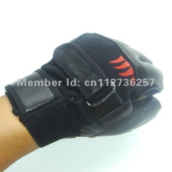 Free shipping Anti-Slip Racing Gloves fitness gloves half finger fingerless Genuine Leather B01(China (Mainland))