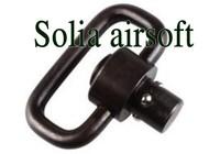 Push button QD sling steel swivel 1.25 inch loop mount Black