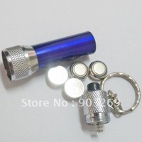 Mail Free 5 PCs  025 Mini LED Flashlight Ordinary type LED Torch with the Battery 4pcs AG13 Type included