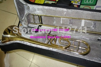 Wholesale -   Best Selling Advanced Gold Trombone F/Bb tone HIgh Musical instruments Free shipping